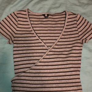 Guess Surplice Ribbed Crop